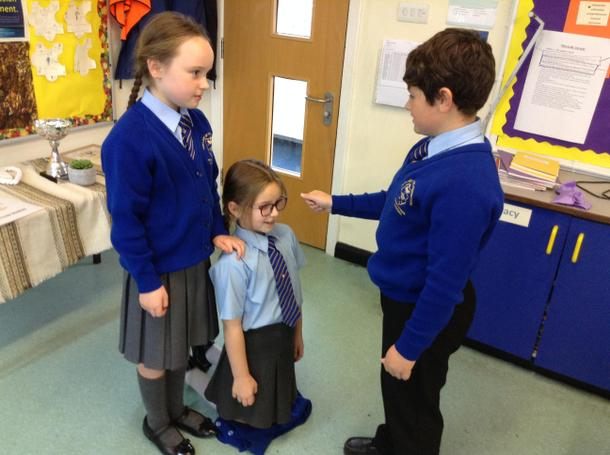 Working together to role play Confirmation.