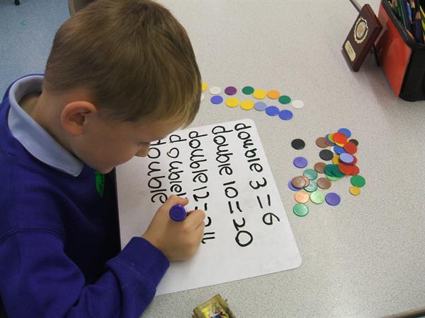 We used counters when doubling numbers