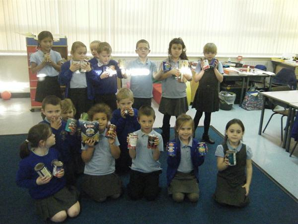We collected food for Liverpool food bank