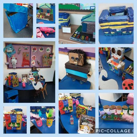 A fantastic effort to recycle and reuse materials!