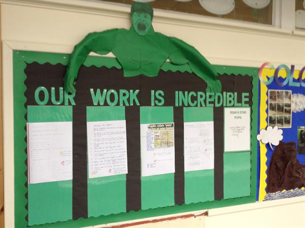 Excellent examples of work.