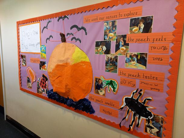 James and the Giant Peach Display!