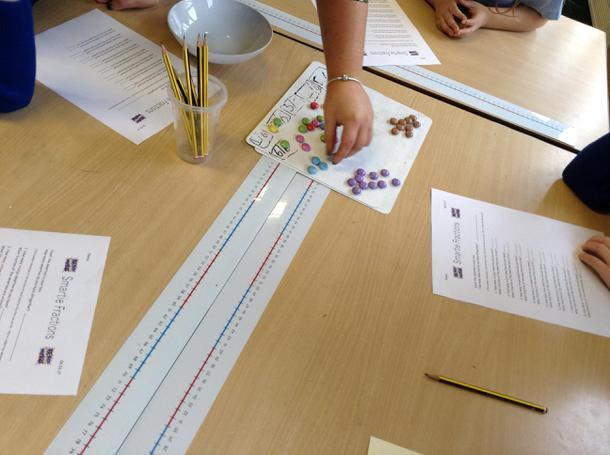 Using smarties to calculate fractions!