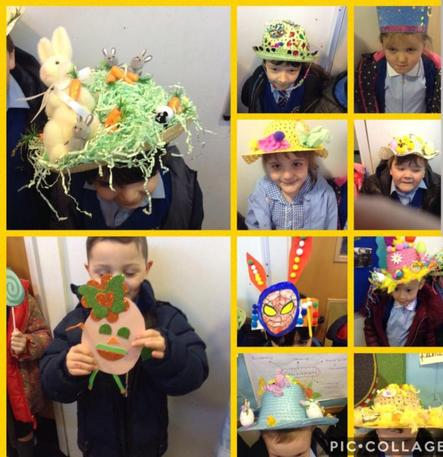 Some children made eggs rather than bonnets!