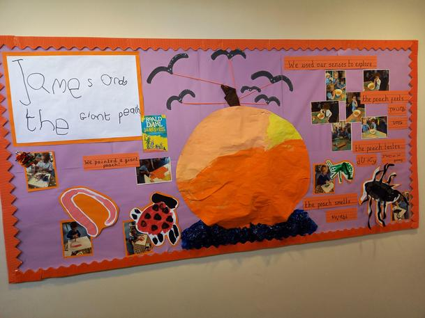 To celebrate Roald Dahl day Nursery and Reception created this display!