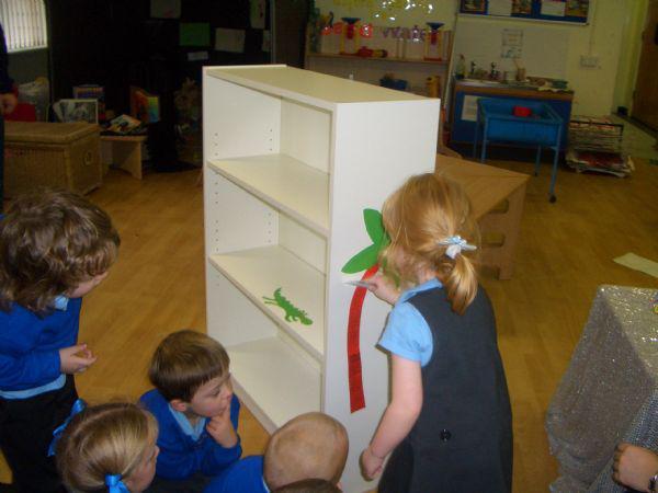 Reception children built their own bookcase.