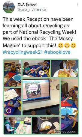 We learnt about materials that we can recycle or reuse to make something new!