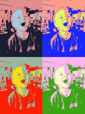 Miss helped us use an app to make an effect.