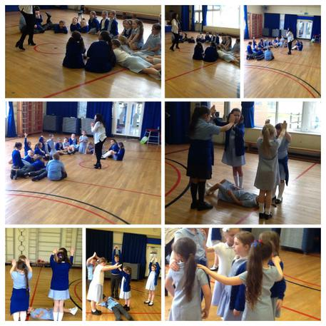 Drama club- using our bodies to make castles 🏰