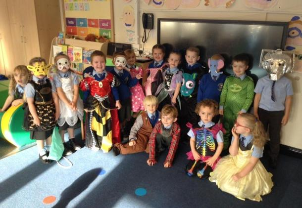 We have enjoyed exploring some new dressing up outfits in Reception!
