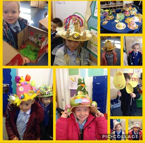 The children made beautiful Easter bonnets for our parade!
