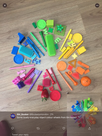 Make your own colour wheel with household objects