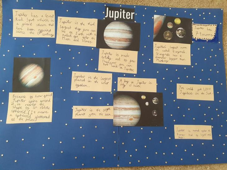 Dominic's research on Jupiter