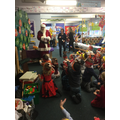 Father Christmas surprised us with a visit!