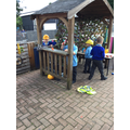 ...and our 'Three Little Pigs' Construction Site'!