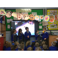 We role-played the story of 'The Wedding at Cana'.