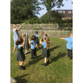 On Tuesday, we pretended to be tornadoes.