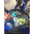 We used knives and forks to cut up play dough...