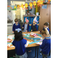 We made hats to celebrate Pentecost.
