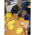 We've also enjoyed making angels!