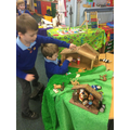 This week, we've loved using our 'small world' figures to re-tell The Christmas Story.