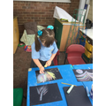 We created firework pictures using chalk...