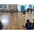 We've been continuing to practise our ball skills