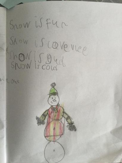 Sebastian snow poem