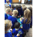 We loved playing with the dinosaurs in the 'Jelli-Bath'!