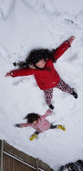 Sophie snow angels