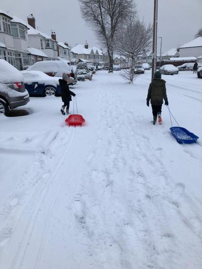 Pull your own sledge Louie!