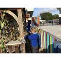 We continued to enjoy playing in our 'Three Little Pigs' construction area.