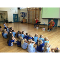 Yesterday morning, Bryony and Helen, who are members of the CBSO, visited us.