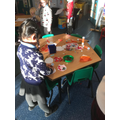 We loved making Christmas decorations.