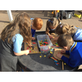 We loved exploring the 'Tap-a-Shape' activity...