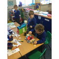 We created buildings and vehicles from junk,