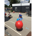 Mrs Sweeney introduced our Space Hoppers...