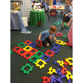 We loved constructing with the Polydron...