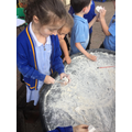 On Wednesday, we used hammers and chisels...