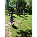 We looked for bees, butterflies and ladybirds in our Prayer Garden...