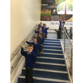 We carefully descended the stairs!