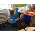 We've enjoyed playing in our Opticians' role play area...