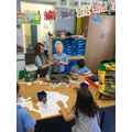 Creating our grass head Dads