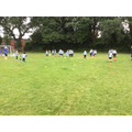 ...practising for Sports Day...