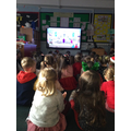 ...and, today, we 'virtually' joined the rest of our school for Mass.