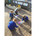 We used chalk to practise our letter formation...
