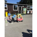 ...the Nursery's bikes and cars.