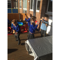 We listened to music and 'transformed' into rock stars!