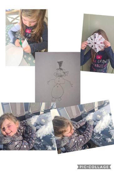 Gracie's snow fun