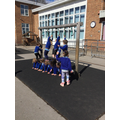 Today, we worked collaboratively to be 'tall enough' to use the monkey bars!